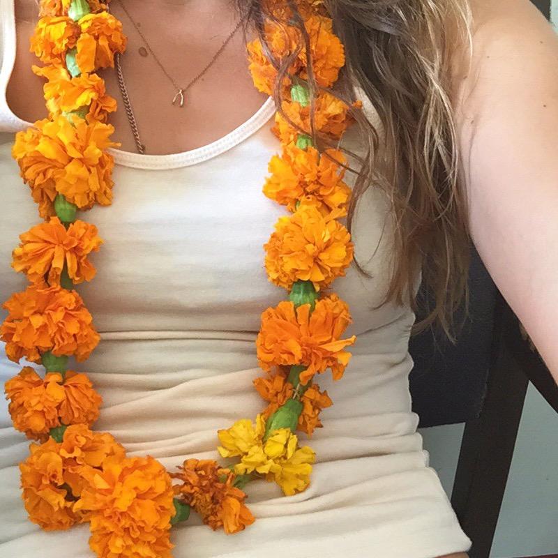 Flower garlands india