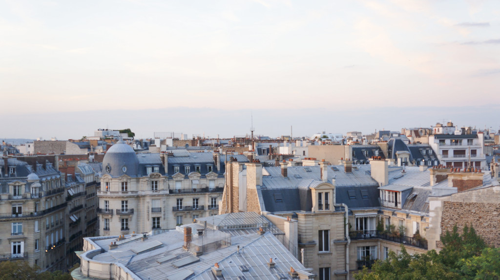 Paris apartment view
