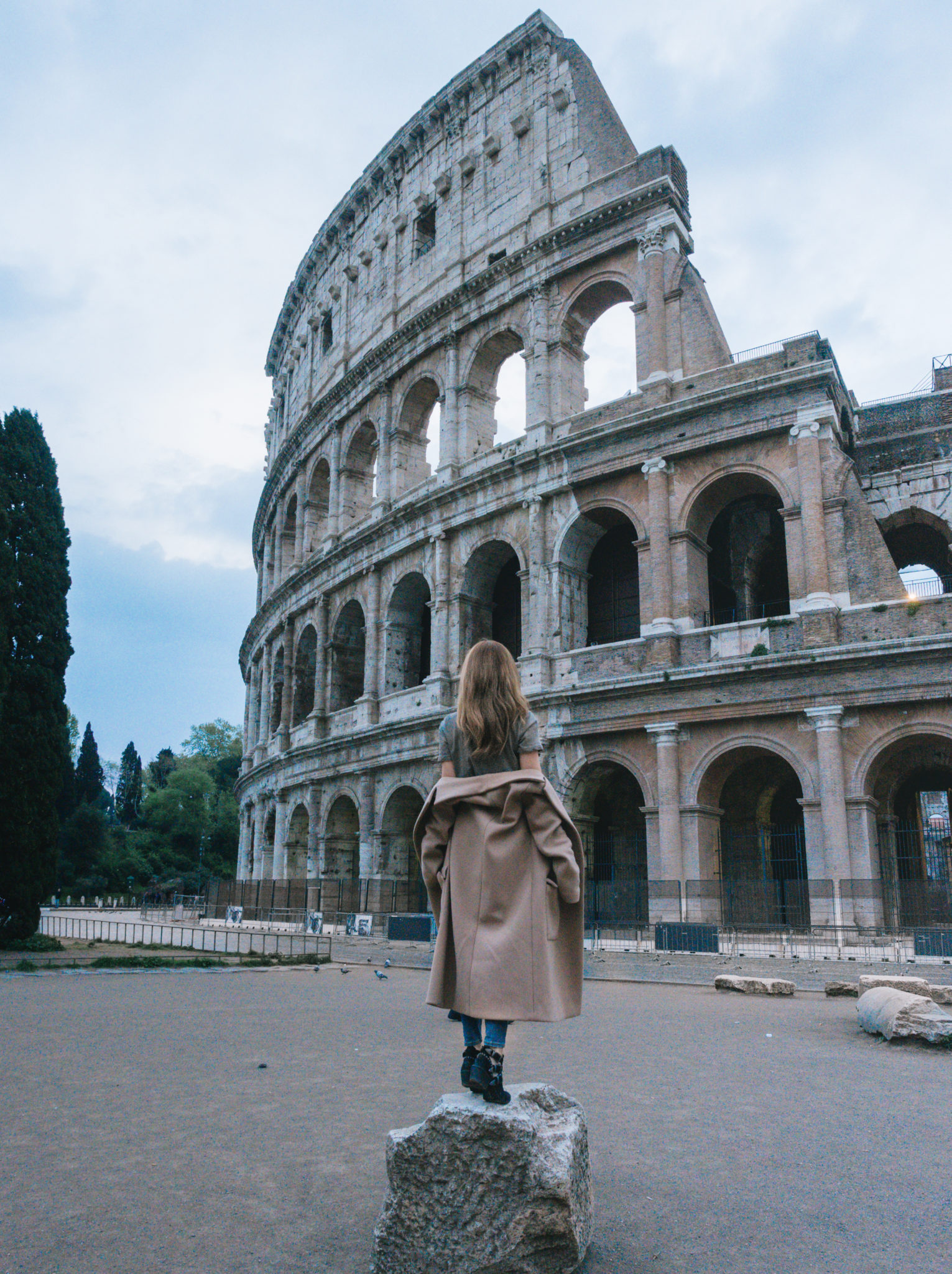 Brooke Saward in Rome Italy