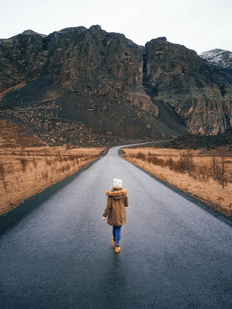 Brooke Saward in Iceland